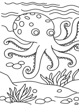 Jamaica Beach Coloring Page